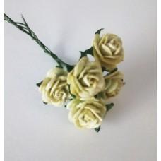 Цветы Розочки светло-зеленый 1,5 см, 5 шт.