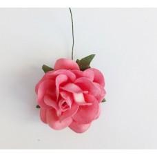 Цветок Розы крупный, цвет ярко-розовый 4,5 см, 1 шт.