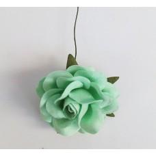 Цветок Розы крупный, цвет мятный 4,5 см, 1 шт.