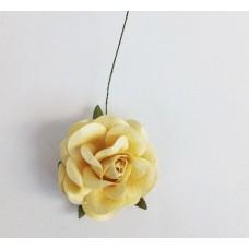 Цветок Розы крупный, цвет кремовый 4,5 см, 1 шт.