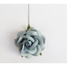 Цветок Розы крупный, цвет дымчатый 4,5 см, 1 шт.