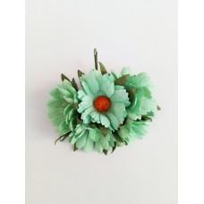 Цветок Ромашка, цвет мятный 4 см, 1 шт.