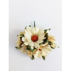 Цветок Ромашка, цвет желтый 4 см, 1 шт.