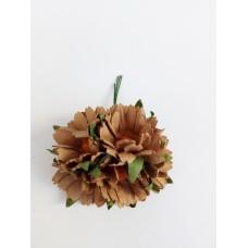Цветок Ромашка, цвет кофейный 4 см, 1 шт.