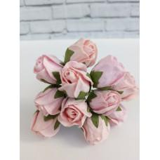 Цветок нераскрывшийся бутон Розы, цвет розовый 2 см, 1 шт.