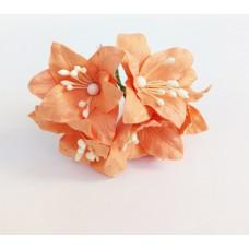 Декор для скрапбукинга Лилия, 3 см, цвет оранжевый, 1 шт.