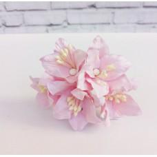 Декор для скрапбукинга Лилия, 3 см, цвет нежно-розовый, 1 шт.