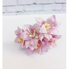 Декор для скрапбукинга Лилия, 3 см, цвет сиреневый, 1 шт.