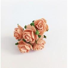 Декор для творчества Цветок Розы, цвет оранжевый 2 см., 5 шт.