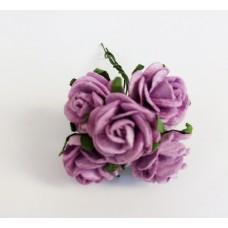 Декор для творчества Цветок Розы, цвет фиолетовый 2 см., 5 шт.