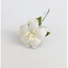 Декор для скрапбукинга Пион, 3,75 см, цвет белый, 1 шт.