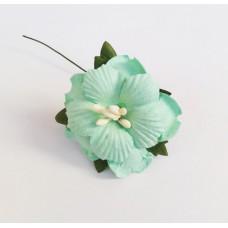 Декор для скрапбукинга Пион, 3,75 см, цвет мятный, 1 шт.