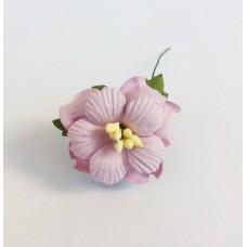 Декор для скрапбукинга Пион, 3 см, цвет сиреневый, 1 шт.