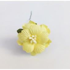 Декор для скрапбукинга Пион, 3,75 см, цвет желтый, 1 шт.