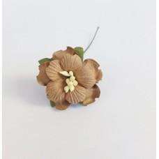 Декор для скрапбукинга Пион, 3,75 см, цвет кофейный, 1 шт.