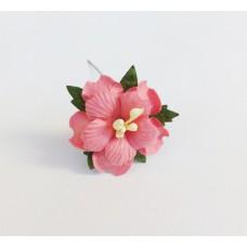 Декор для скрапбукинга Пион, 3,75 см, цвет малиновый, 1 шт.