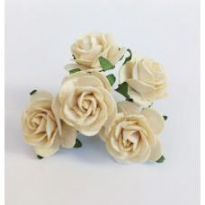 Цветок Розы, цвет кремовый 2,5 см, 1 шт.