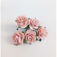 Цветок Розы, цвет розовый 2,5 см, 1 шт.