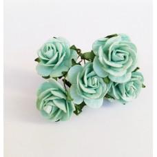 Цветок Розы, цвет мятный 2,5 см, 1 шт.