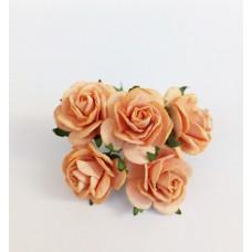 Цветок Розы, цвет персиковый 2,5 см, 1 шт.