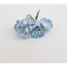 Цветок Вишни, цвет нежно-голубой 2,5 см, 5 шт.