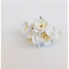 Цветок Вишни, цвет белый 2,5 см,