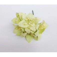 Декор для скрапбукинга Лилия, 3 см, цвет лайм, 1 шт.