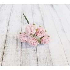 Цветы Розочки розовые 1,5 см, 5 шт.