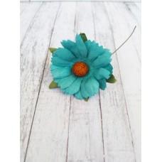 Цветок Ромашка, цвет морской волны 4 см, 1 шт.