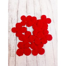 Цветок Гортензии, цвет красный 3 см, 10 шт.