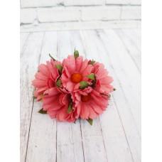 Цветок Ромашка, цвет малиновый 4 см, 1 шт.