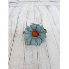 Цветок Ромашка, цвет синий 4 см, 1 шт.