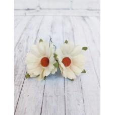 Цветок Ромашка, цвет белый 4 см, 1 шт.