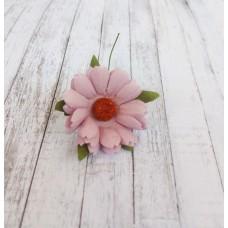 Цветок Ромашка, цвет сиреневый 4 см, 1 шт.