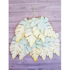 Листья желто-зеленые 6х4,5 см., 10 шт.
