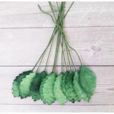 Листья зеленые 2,2х1,2 см., 10 шт.