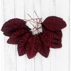 Листья бордовые 5х3 см., 10 шт.
