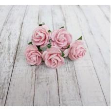 Декор для творчества Цветок Розы, цвет розовый 2 см., 5 шт.