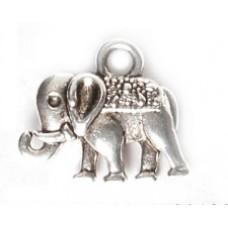 Металлическая подвеска Слон, 12*14мм