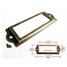 Рамка металлическая (цвет античное золото) 2шт.