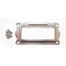 Рамка металлическая (цвет серебро) 1шт.  размер 3х6,5 см