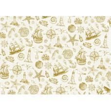 Пленка с золотым рисунком SEA adventure- ships для шейкеров, разделителей и декора. Размер листа 21х29.7 см. Толщина 0,25 мм. Bee Shabby.
