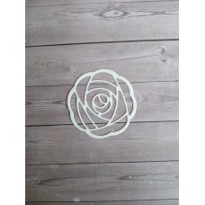 """Вырубка """"Роза"""" 4,8х4,8. Цвет белый."""