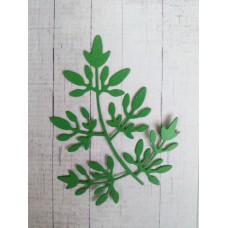 """Вырубка """"Веточка листвы"""" 7,5х9. Цвет темно-зеленый."""