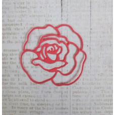 "Вырубка ""Роза"" 4,2х4см. Цвет розовый"