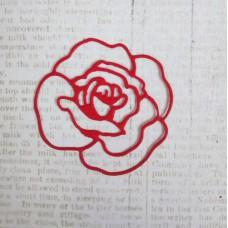"""Вырубка """"Роза"""" 4,2х4см. Цвет красный"""