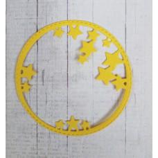 "Вырубка ""Звездная рамка"" 8х8 см. Цвет белый."