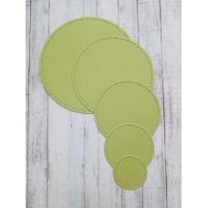 """Набор вырубки """"Круги"""" 5 элементов d= 7,5; 6,5; 5; 3,8; 2,5 см. Цвет светло-зеленый."""