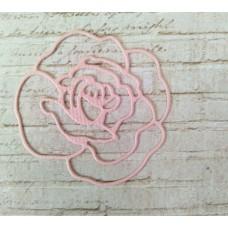 """Вырубка """"Роза"""" 4,2х4см. Цвет нежно-розовый"""