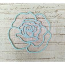 """Вырубка """"Роза"""" 4,2х4см. Цвет голубой"""